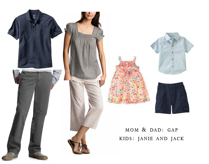 Her is a couple of clothing suggestions for a whole family that I got from