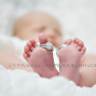 Newborn Baby Feet with rings,