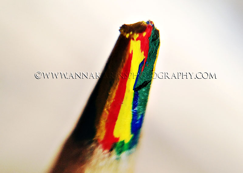 Rainbow color pencil, stock photography, tip of a colored pencil, baton rouge photographer
