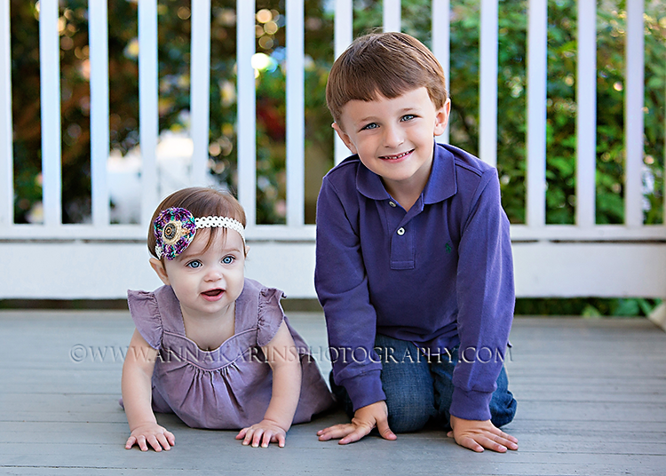 Siblings, brother & sister, baby girl and big brother, Family portrait session