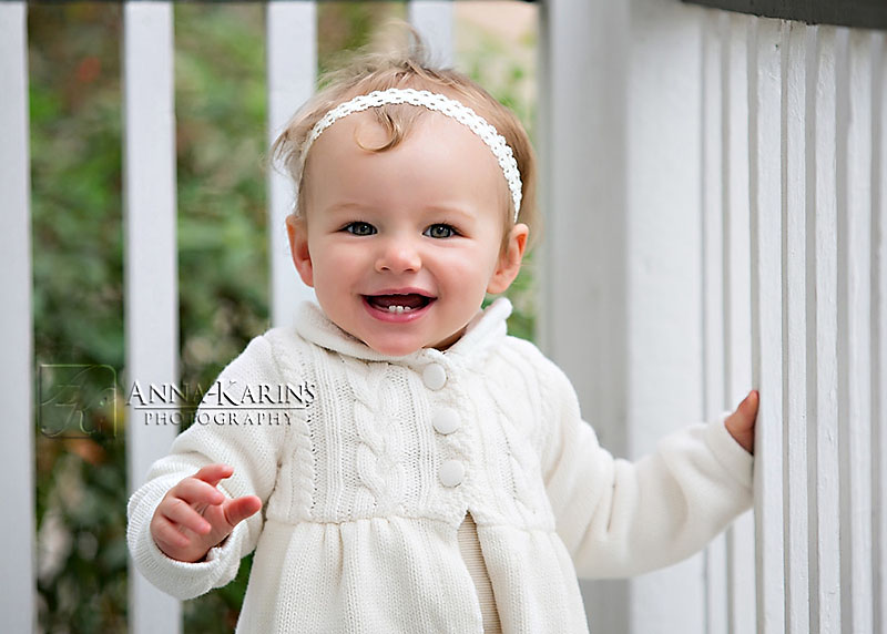 happy smiling baby girl, outdoor happy one year old girl