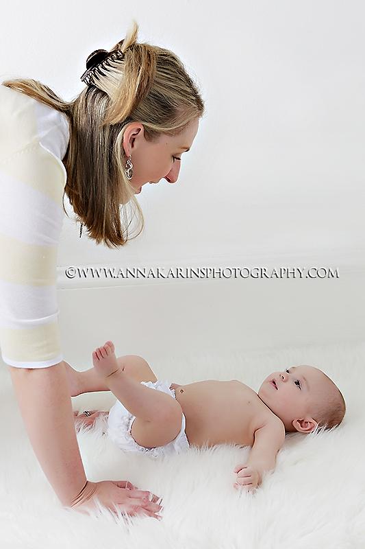 Playful mother & daughter portrait