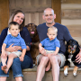 Family portrait with dogs included