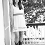 teen girl in bw and cowboy boots