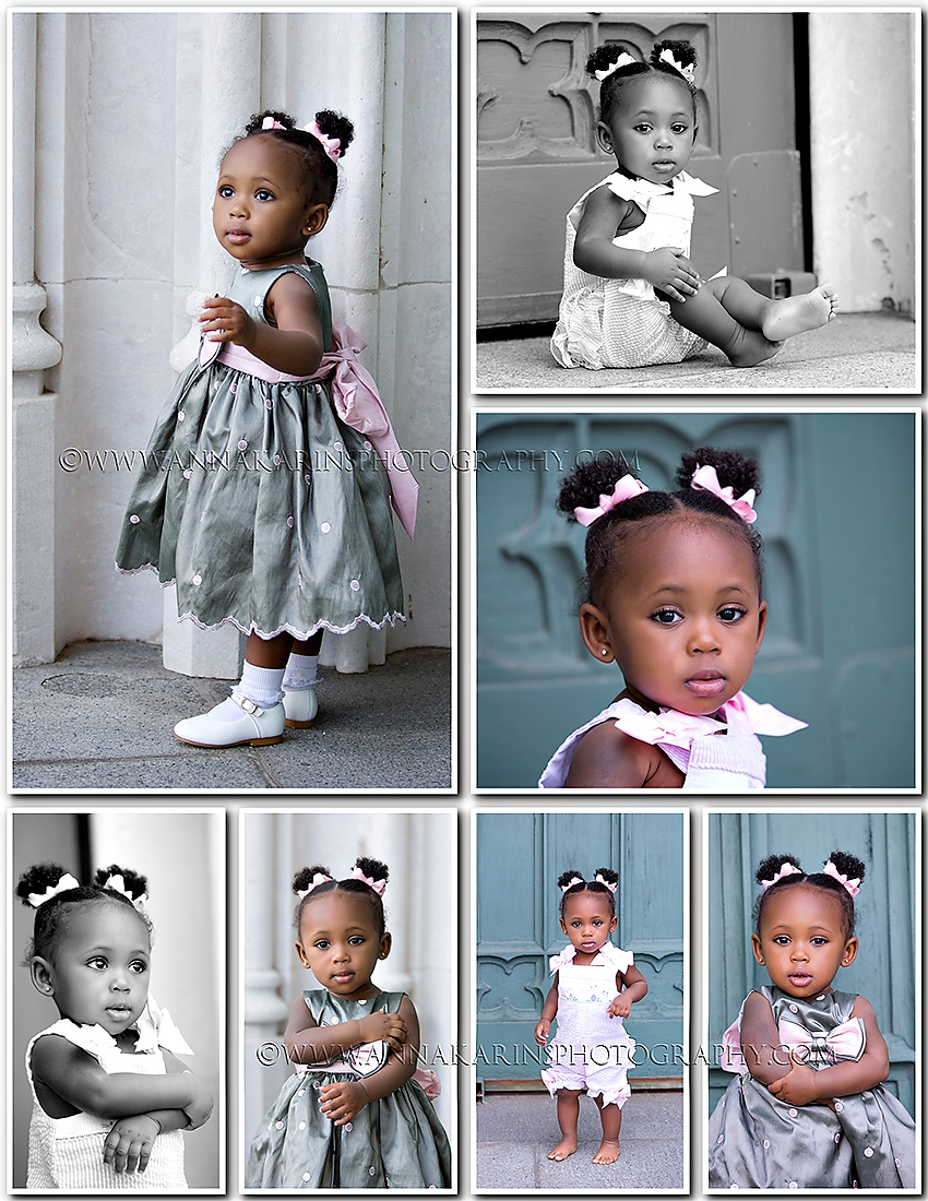 Beautiful 1 yr old girl,  gorgeous timeless portraits of little girl outside. African American baby girl
