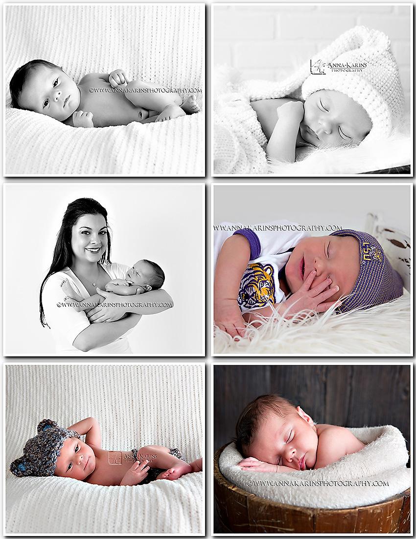 Beautiful newborn portraits of newborn baby boy with his parents