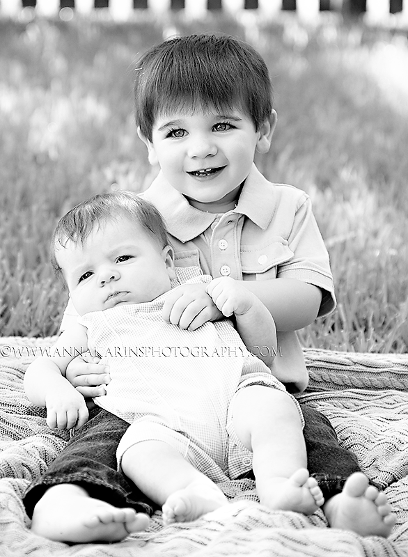 sweet brothers, big brother holding his baby brother