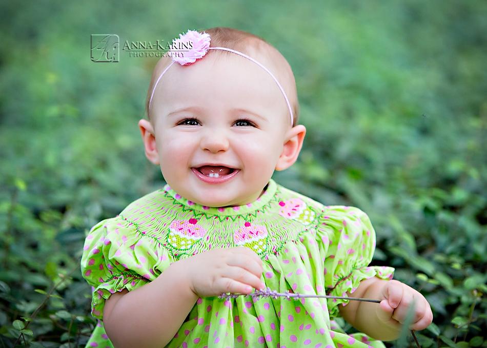 giggly little baby girl